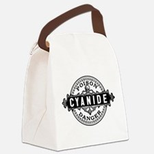 Vintage Style Cyanide Canvas Lunch Bag