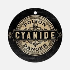 Vintage Style Cyanide Round Ornament