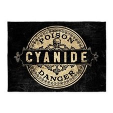 Vintage Style Cyanide 5'x7'Area Rug