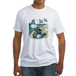 Wild Pigeons Fitted T-Shirt