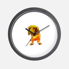 Dachshund Orange Bernadette's Fave Wall Clock