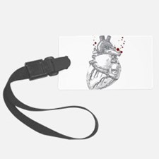 Anitomical Heart with Blood Drop Luggage Tag