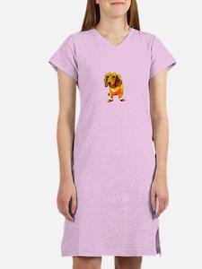 Dachshund Orange Bernadette's F Women's Nightshirt