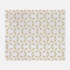 Silver and Gold Pinwheels Throw Blanket