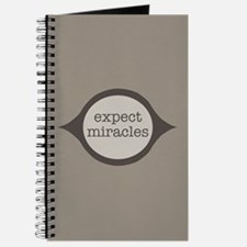 Expect Miracles (Gray Design) Journal
