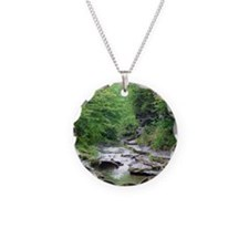 forest river scenery Necklace