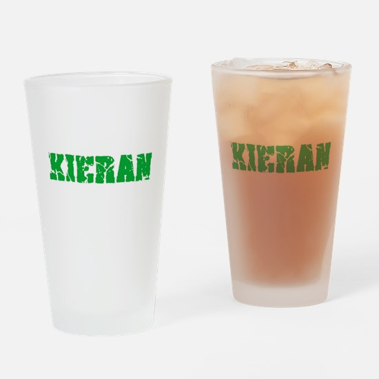 Kieran Name Weathered Green Design Drinking Glass