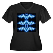 Soundwave deejay Techno music Plus Size T-Shirt