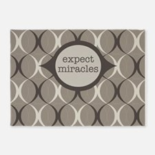Expect Miracles (Gray Design) 5'x7'Area Rug