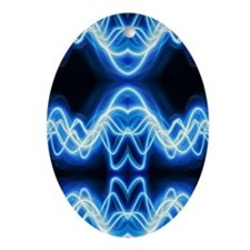 Soundwave deejay Techno music Oval Ornament