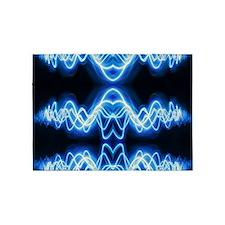 Soundwave deejay Techno music 5'x7'Area Rug