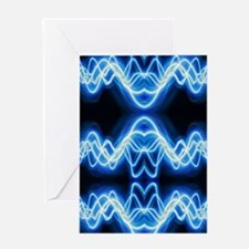 Soundwave deejay Techno music Greeting Cards