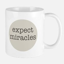 Expect Miracles (Gray Design) Mugs