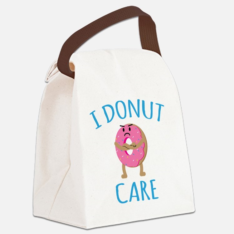 I Donut Care Canvas Lunch Bag