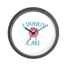 I Donut Care Wall Clock