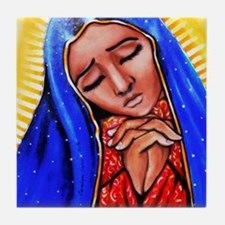 Blessed Mother Tile Coaster