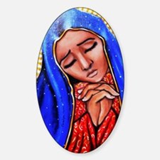 Blessed Mother Sticker (Oval)