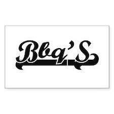 Bbq'S Classic Retro Design Decal
