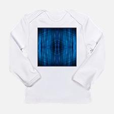 modern beach blue batik Long Sleeve T-Shirt