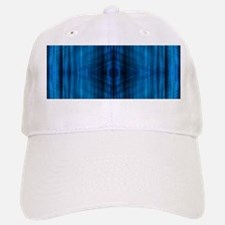 modern beach blue batik Baseball Baseball Cap