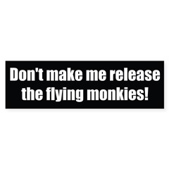 Flying Monkey Custom BUmper Bumper Sticker