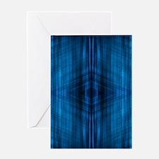 modern beach blue batik Greeting Cards
