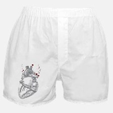 Anitomical Heart with Blood Drops Boxer Shorts