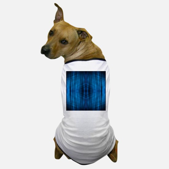 modern beach blue batik Dog T-Shirt