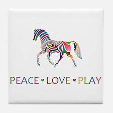 Funny Horse girls Tile Coaster