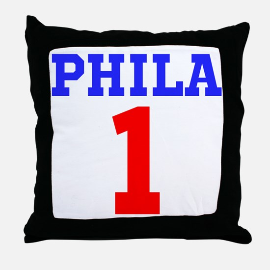 PHILA #1 Throw Pillow