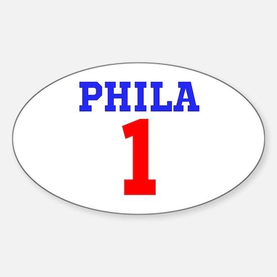 PHILA #1 Sticker (Oval)