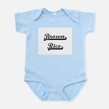 Brown Rice Classic Retro Design Body Suit