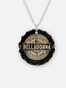 Vintage Style Belladonna Poi Necklace Circle Charm