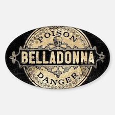 Vintage Style Belladonna Poison Decal