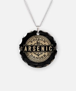 Arsenic Vintage Style Necklace Circle Charm