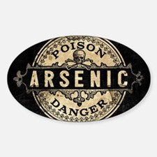 Arsenic Vintage Style Sticker (Oval)