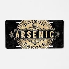 Arsenic Vintage Style Aluminum License Plate