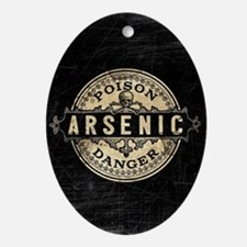 Arsenic Vintage Style Oval Ornament