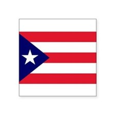 "Cute Puerto rico flag Square Sticker 3"" x 3"""