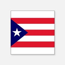 "Cute Puerto rican flag Square Sticker 3"" x 3"""