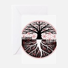 AS ABOVE SO BELOW - Tree of life Flower of Life Gr