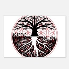 AS ABOVE SO BELOW - Tree of life Flower of Life Po