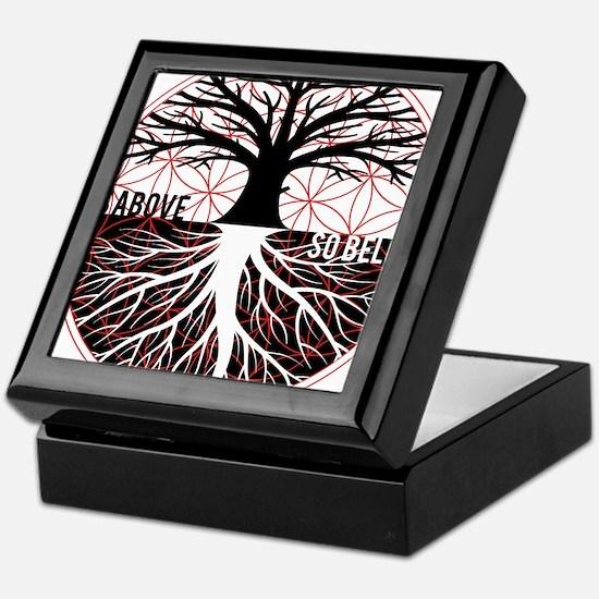AS ABOVE SO BELOW - Tree of life Flower of Life Ke