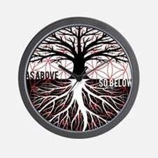 AS ABOVE SO BELOW - Tree of life Flower of Life Wa