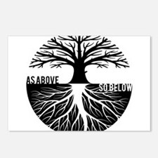 AS ABOVE SO BELOW Tree of life Postcards (Package