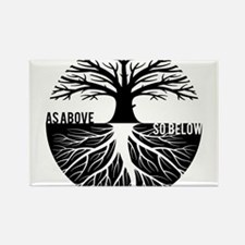 AS ABOVE SO BELOW Tree of life Magnets
