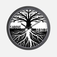 AS ABOVE SO BELOW Tree of life Wall Clock