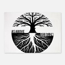 AS ABOVE SO BELOW Tree of life 5'x7'Area Rug