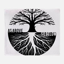 AS ABOVE SO BELOW Tree of life Throw Blanket