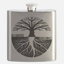 AS ABOVE SO BELOW Tree of life Flask